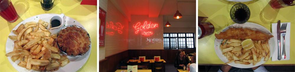 Londres - Golden Union - fish and chips et tourte à la viande ©Etpourtantelletourne.fr