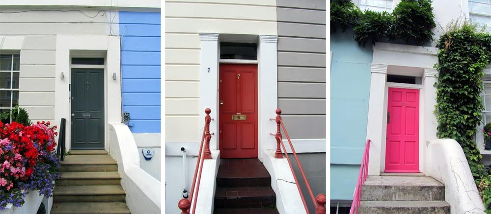 Londres - Nothing Hill - portes colorées ©Etpourtantelletourne.fr