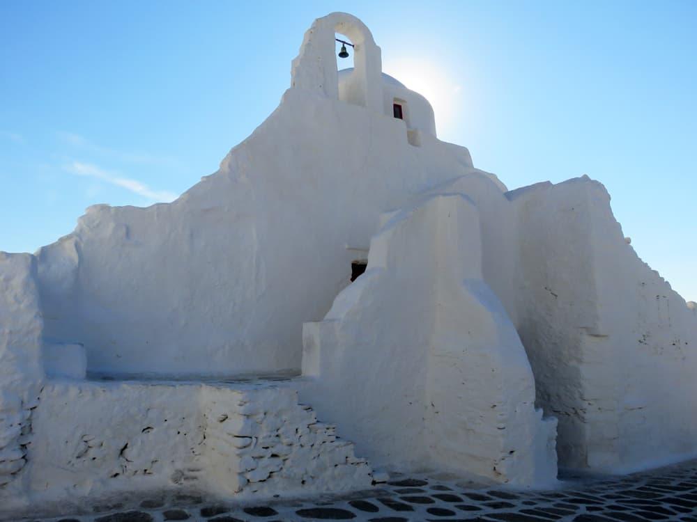 Mykonos, Chora, l'église Paraportiani 2015 ©Etpourtantelletourne.fr