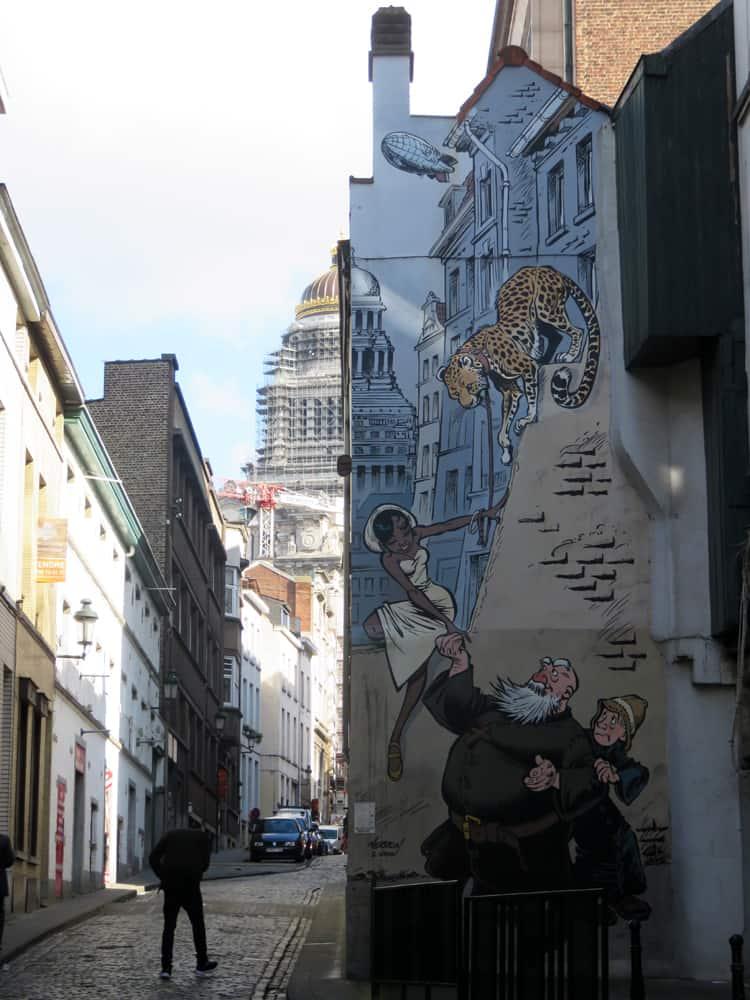 Bruxelles, parcours fresques Bande Dessinée 2016 ©Etpourtantelletourne.fr