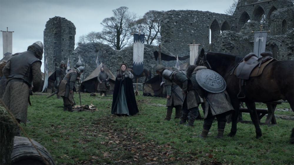Itinéraire sur les lieux de tournage de Game of Thrones en Irlande du Nord - Inch Abbey ©HBO