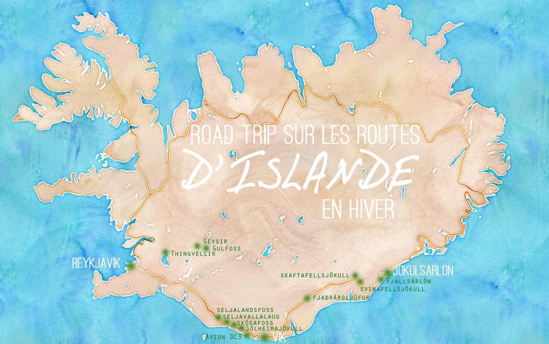 Carte road trip Islande en hiver ©Etpourtantelletourne.fr