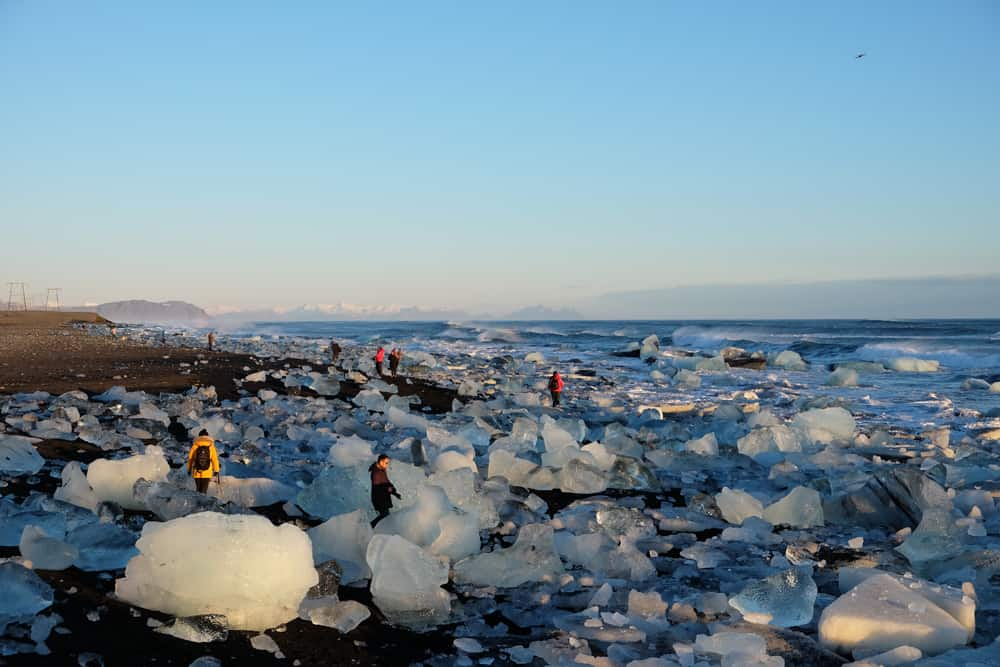 Islande en hiver plage iceberg ©Etpourtantelletourne.fr