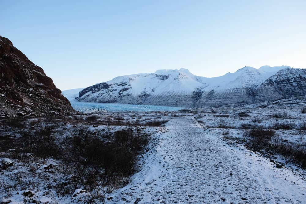 Islande en hiver le glacier Skaftafellsjökull ©Etpourtantelletourne.fr