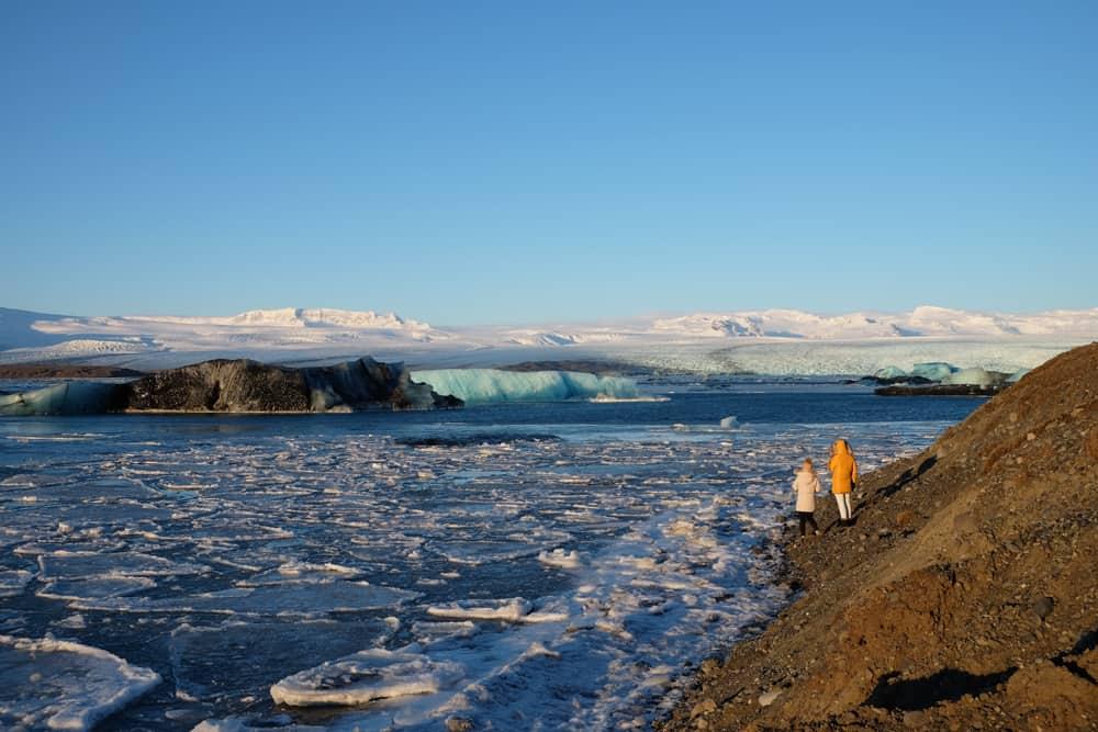 Islande en hiver la lagune glaciaire de Jökulsárlón ©Etpourtantelletourne.fr