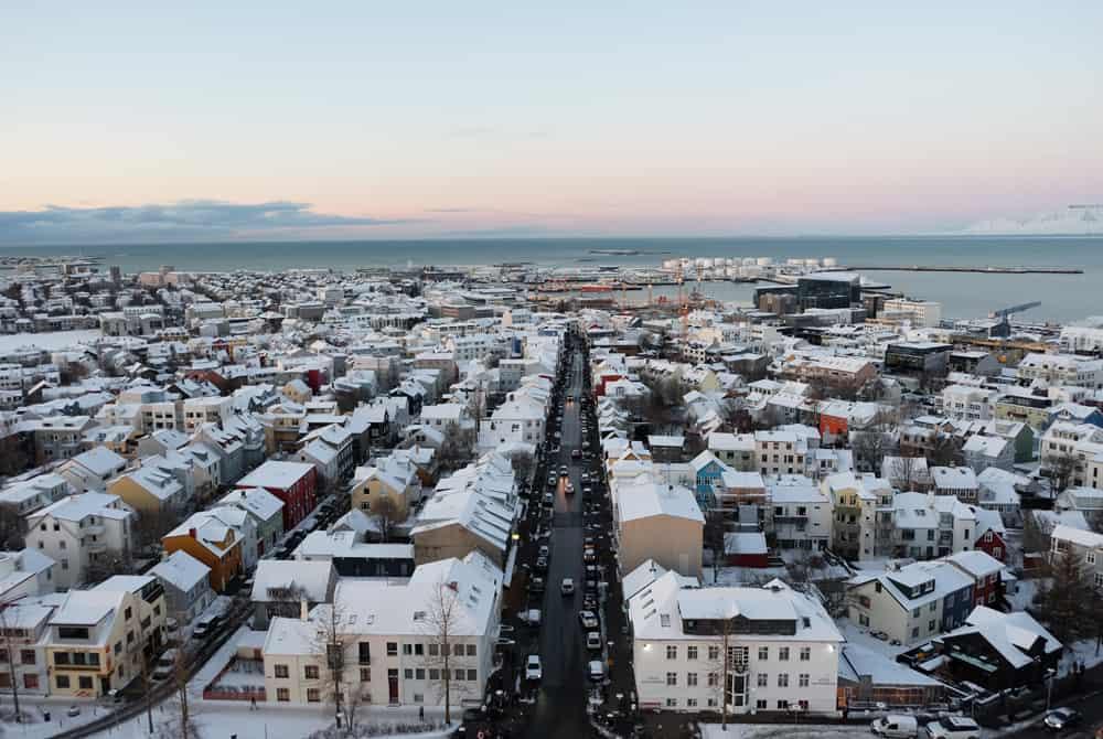 Islande en hiver point de vue cathédrale Hallgrímskirkja Reykjavik ©Etpourtantelletourne.fr