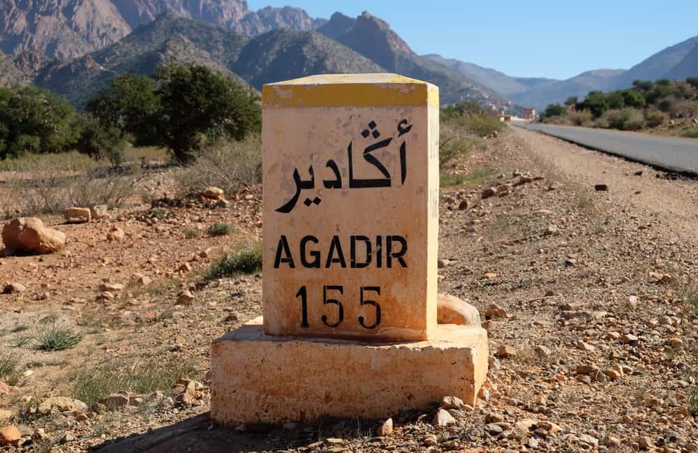 Route d'Agadir Tafraoute Maroc ©Etpourtantelletourne.fr