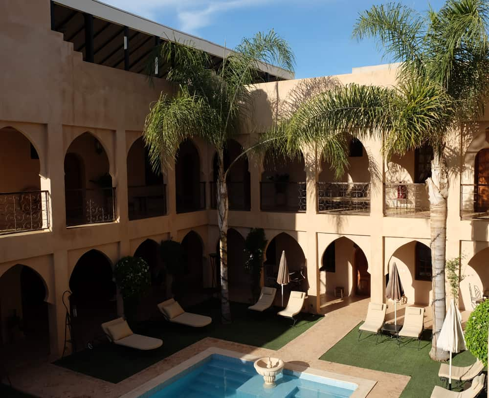 Maison d'hôtes avec piscine Riad Janoub à Tiznit Maroc ©Etpourtantelletourne.fr
