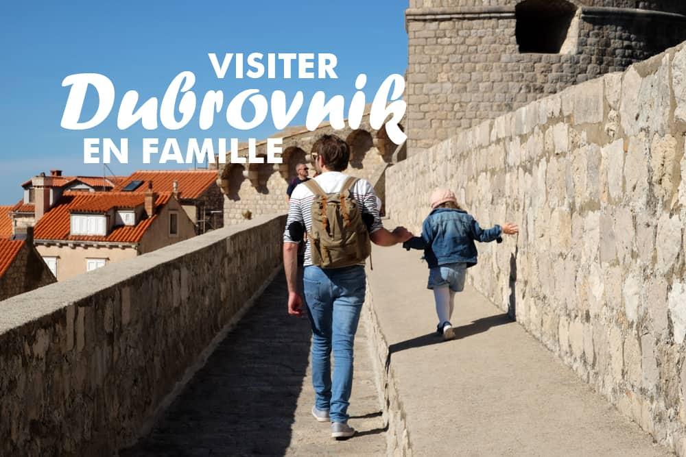 Visite de Dubrovnik en famille ©Etpourtantelletourne.fr