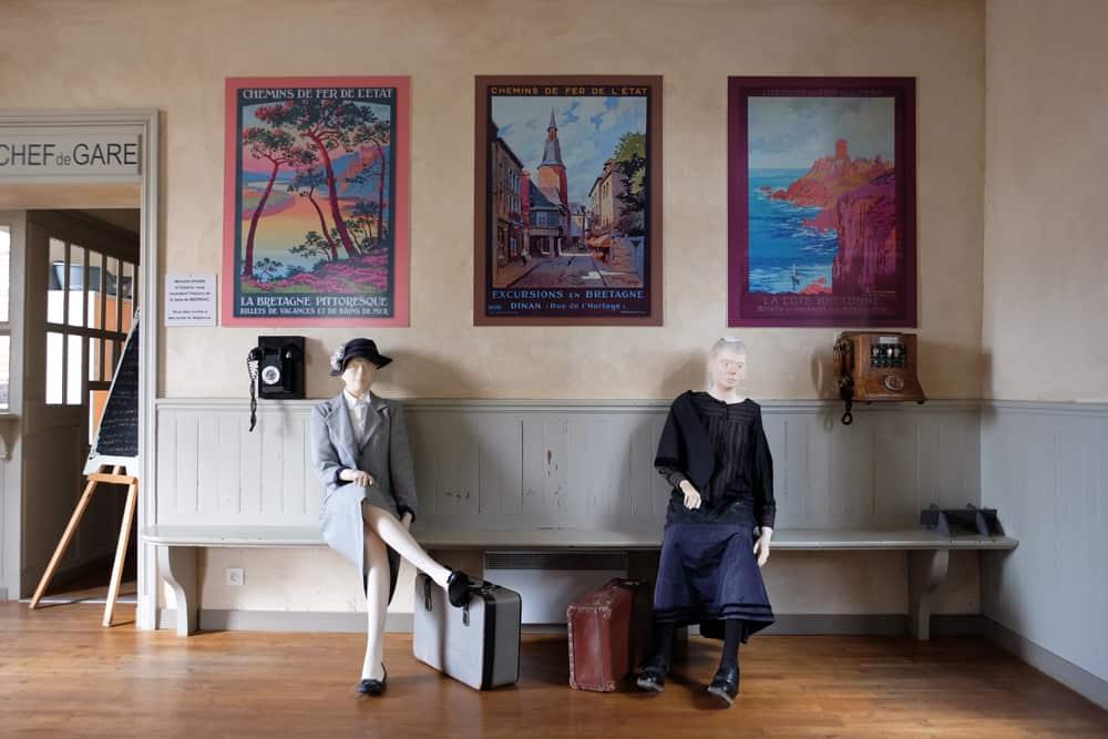 Musée du train à la gare de Médréac en Ille et Vilaine ©Etpourtantelletourne.fr