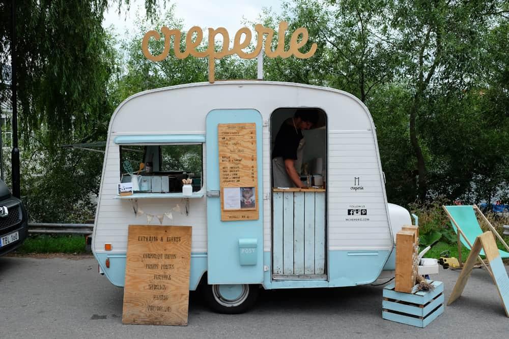 Food-trucks au marché aux puces de Hornstull // ©etpourtantelletourne.fr
