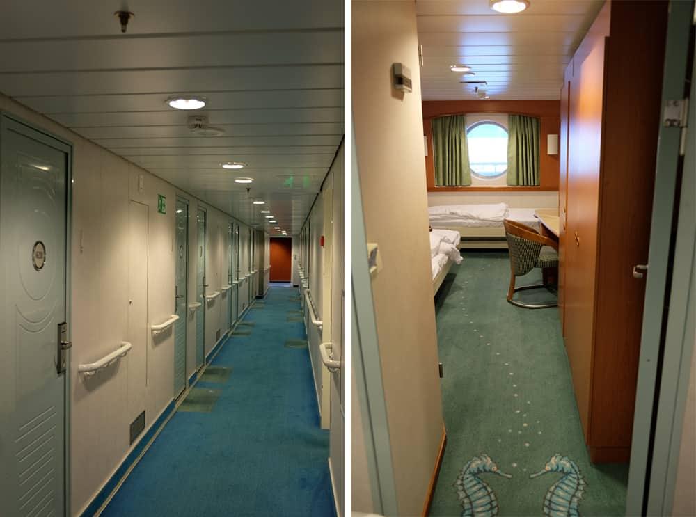 Cabines sur les bateaux Hurtigruten pour une croisière en Norvège ©Etpourtantelletourne.fr