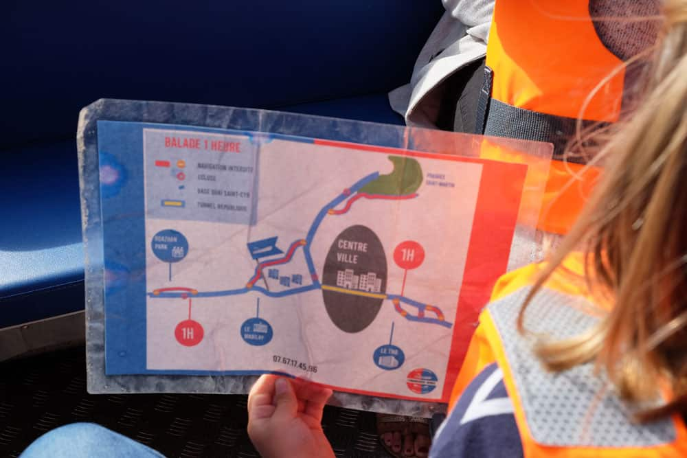 Plan et itinéraires des balades en bateau sans permis à Rennes ©etpourtantelletourne.fr
