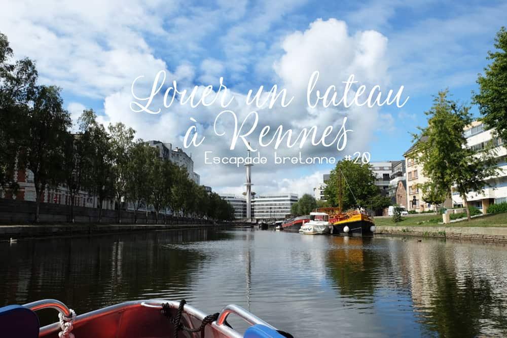 Louer un bateau électrique sans permis à Rennes ©etpourtantelletourne.fr